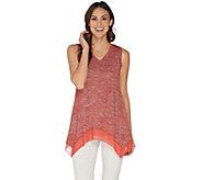 LOGO by Lori Goldstein Space Dye Sweater Tank w/ Hem Detail - A302429