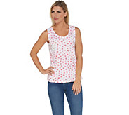 Denim & Co. Active Perfect Jersey Star Print Knit Tank - A304429