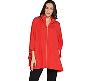 Susan Graver Lightweight Water Resistant Poncho with Travel Bag - A305129