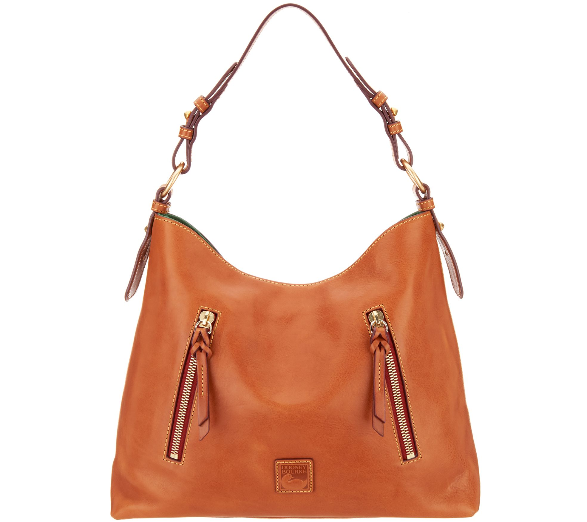 463620527db7 Dooney   Bourke Florentine Leather Hobo - Cooper - Page 1 — QVC.com