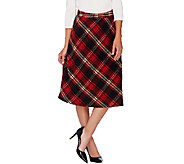 Dennis Basso Yarn Dyed Plaid Bias Cut Full Skirt - A270630