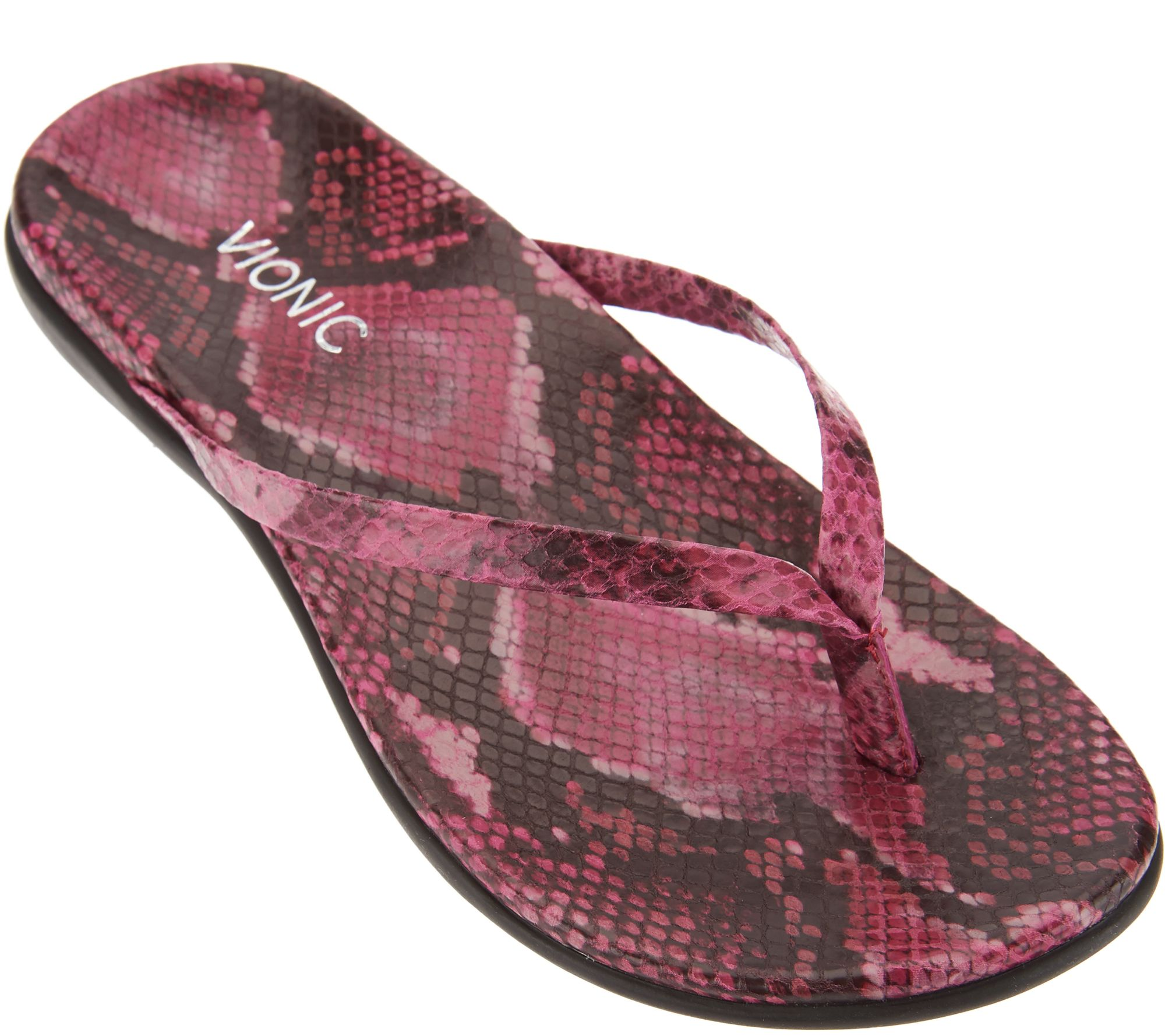 0d6dce9a3d70f Vionic Orthotic Leather or Suede Thong Sandals - Corfu - Page 1 — QVC.com