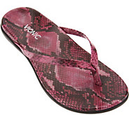 Vionic Orthotic Leather or Suede Thong Sandals - Corfu - A275730