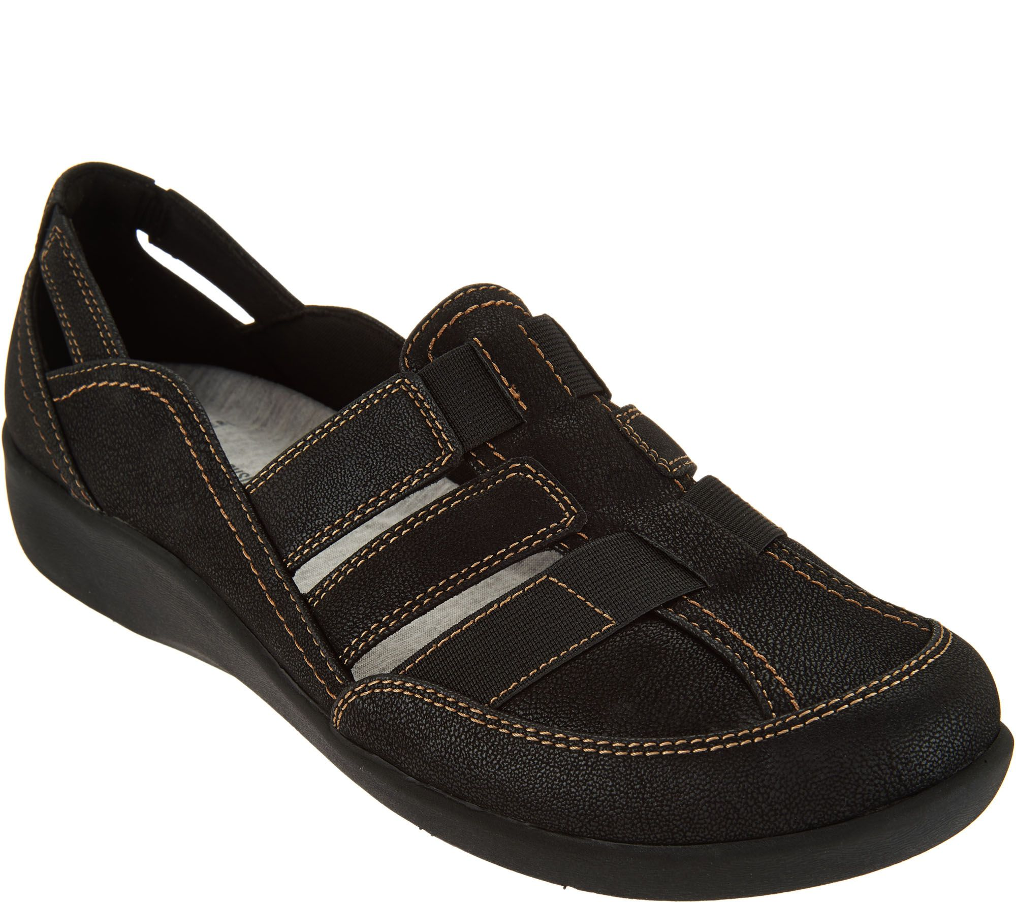 977fbab6f2df CLOUDSTEPPERS by Clarks Slip-on Shoes - Sillian Stork - Page 1 — QVC.com