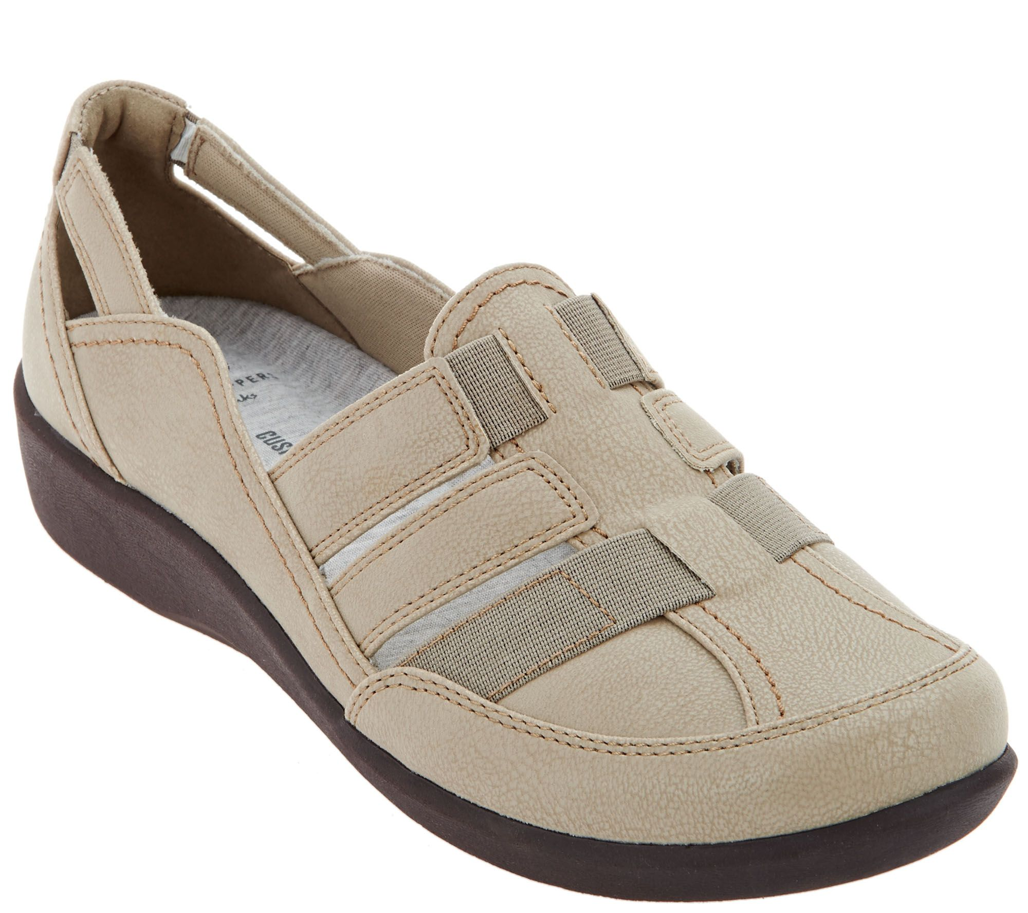 c58c40c9119e CLOUDSTEPPERS by Clarks Slip-on Shoes - Sillian Stork - Page 1 — QVC.com