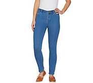 LOGO by Lori Goldstein Ankle Jeans w/ Embroidered Pocket Detail - A301230