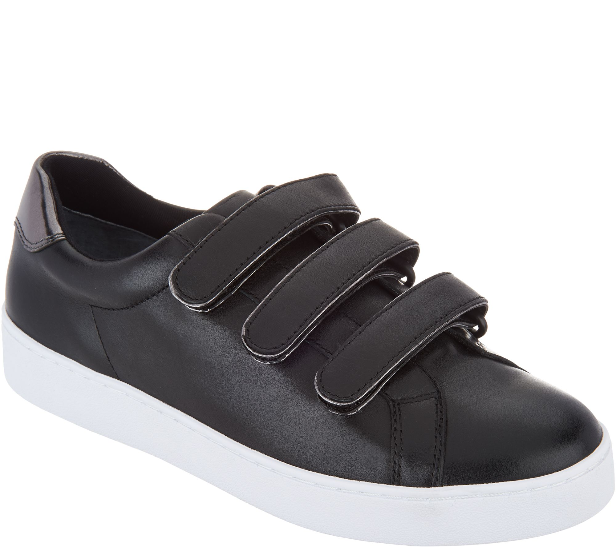 2f80b8270ee3 Vionic Leather Sneakers - Bobbi - Page 1 — QVC.com