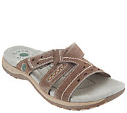 Earth Origins Suede Adjustable Slip On Sandals - Sterling - A304630