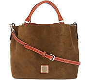 Dooney & Bourke Suede Small Brenna Satchel Handbag - A310530