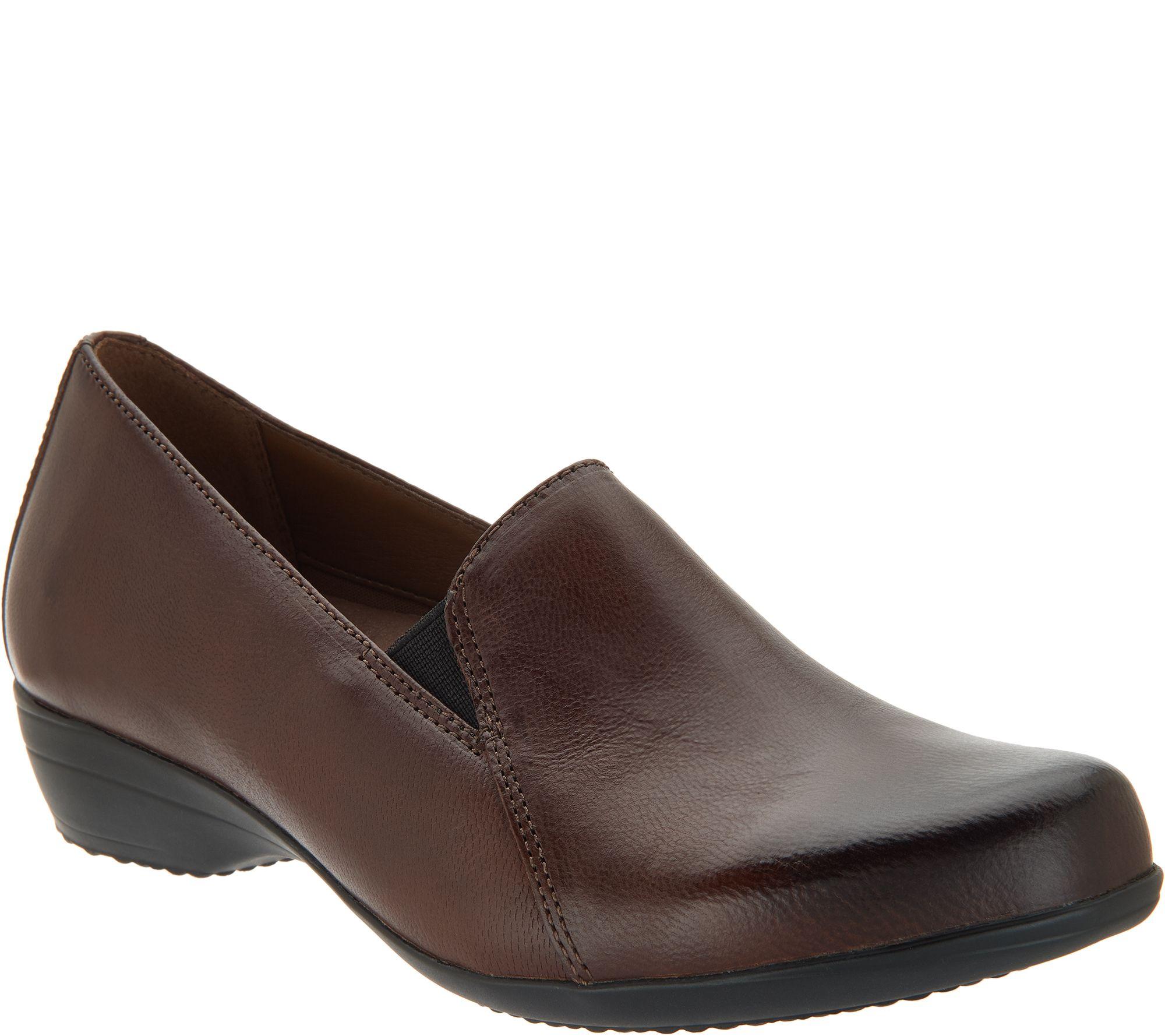 1737fffd503 Dansko Leather Slip-On Loafers - Farah - Page 1 — QVC.com