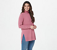 Joan Rivers Turtleneck Tunic with Hi-Low Hem - A343430