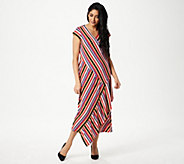 Du Jour Striped Wrap Knit Midi Dress - A352930