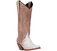 Dan Post Leather and Snake Cowboy Boots - Charmer - A356530