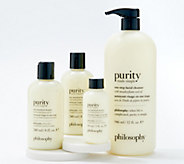 philosophy purity one-step facial cleanser 4-piece collection - A388330