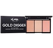 Klara 3-in-1 Contour, Blush & Highlight Palette - A412030