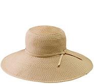 San Diego Hat Co. Ribbon Braid Sun Hat with Tie - A413830