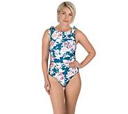 Carole Hochman Tie Boatneck One-Piece Swimsuit - A424230