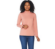 Denim & Co. Essentials Perfect Jersey Long Sleeve Mock Neck Top - A202931