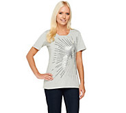 Quacker Factory Starburst Short Sleeve T-shirt - A232131
