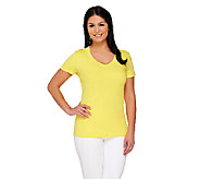 Isaac Mizrahi Live! Essentials V-Neck T-Shirt - A260931