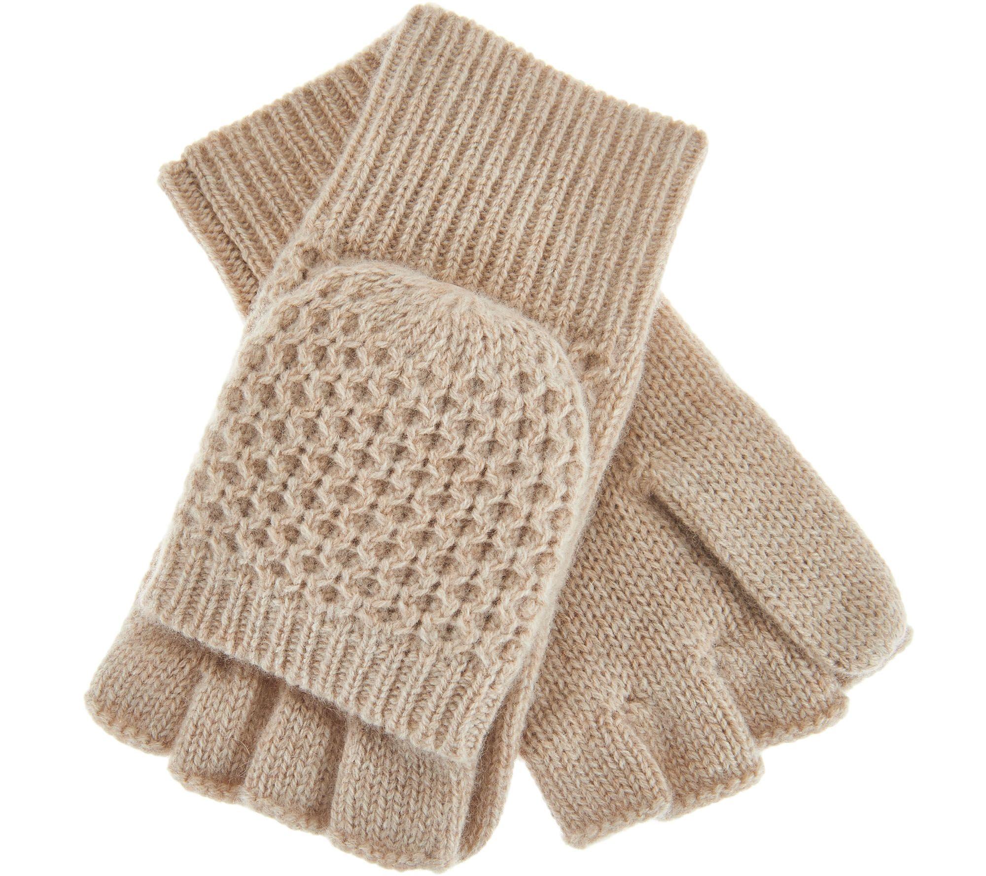 19cb2f09d78b8d Isaac Mizrahi Live! 2-Ply Cashmere Convertible Gloves - Page 1 — QVC.com