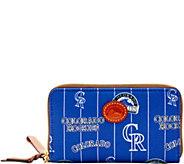Dooney & Bourke MLB Nylon Rockies Zip Around Phone Wristlet - A281731