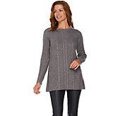 Susan Graver Novelty Stitch Sweater Knit Tunic - A282931