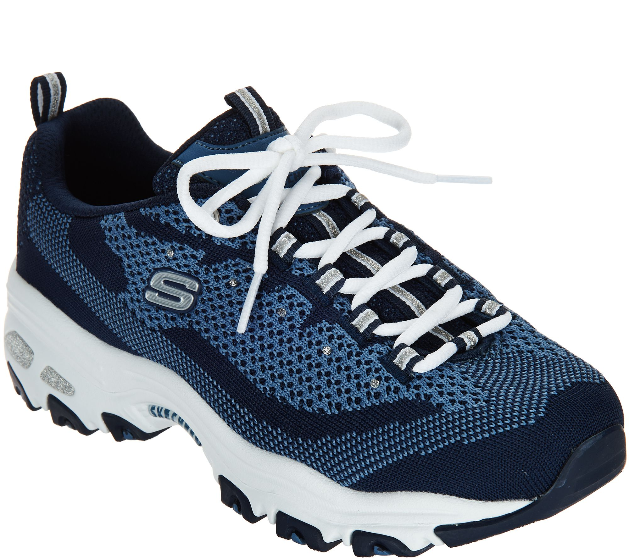 516e4c6de07 Skechers D Lites Flat Knit Lace-up Sneaker - Reinvention - Page 1 — QVC.com