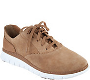 Vionic Suede Lace-up Casual Sneakers - Taylor - A294431