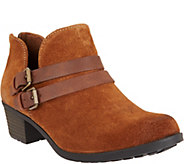 Earth Origins Suede Ankle Boots w/ Buckle Details - Destiny - A296231
