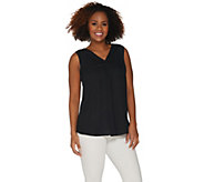 Joan Rivers Sleeveless V-Neck Silky Blouse - A302231