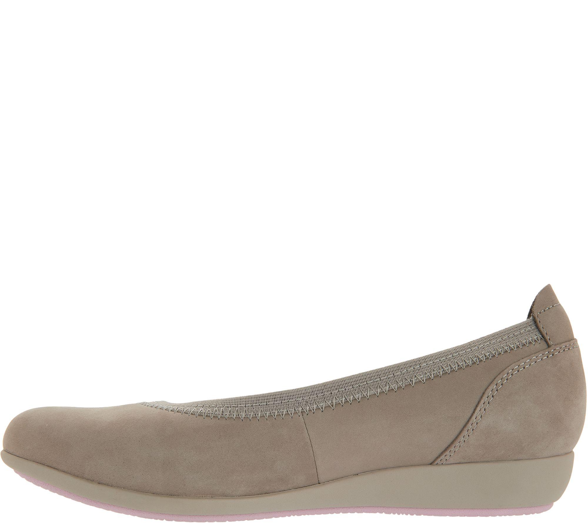 7100493dba4f Dansko Nubuck Leather Flats - Kristen - Page 1 — QVC.com