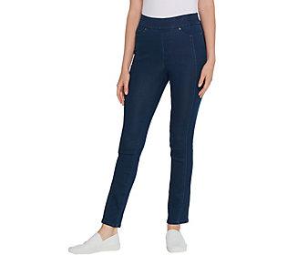 Martha Stewart Regular Knit Denim Ankle Jeansw/