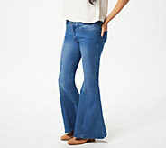 Women with Control My Wonder Denim Petite Flare Jeans-Indigo - A347331