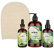 WEN by Chaz Dean Summer Cleanse & Treat 3-Piece Kit w/ Loofah - A296232