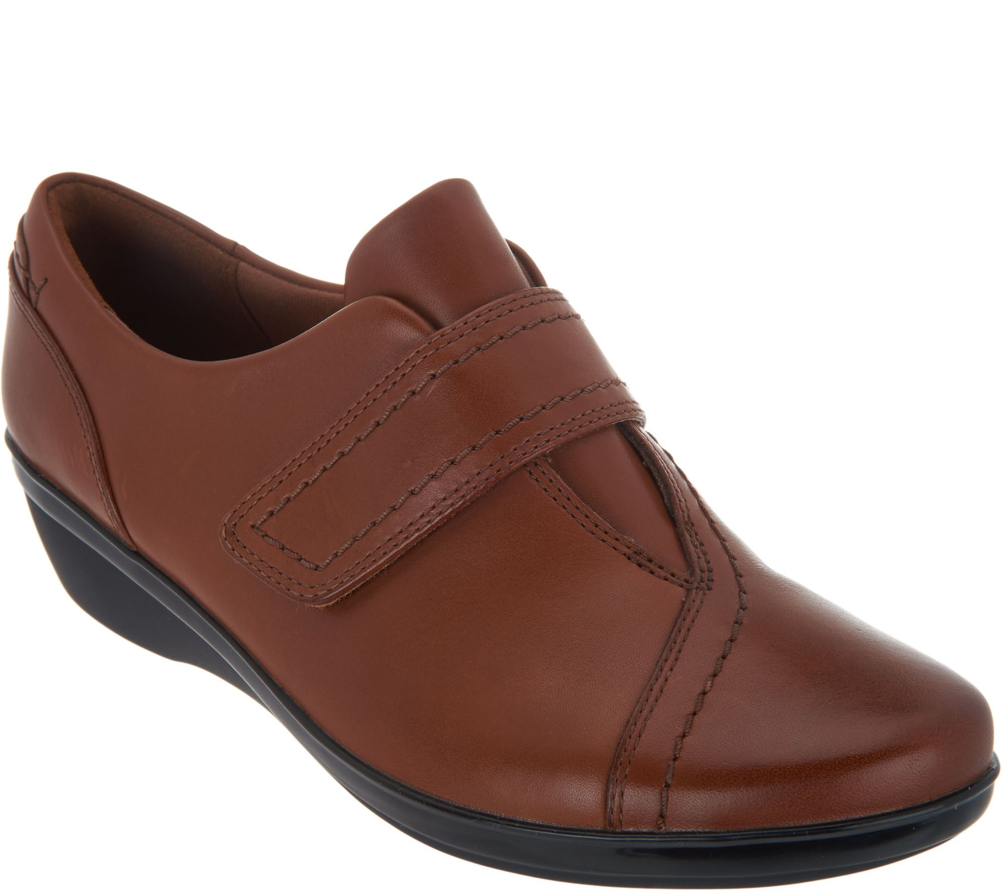 f3d0292b079 Clarks Leather Monk Strap Shoes - Everlay Dixie - Page 1 — QVC.com