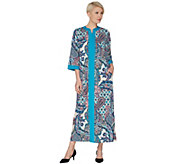 Joan Rivers Regular Length Paisley Print Jersey Lounger - A303032