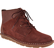 As Is Clarks Leather & Suede Lace-Up Ankle Boots - Tamitha Key - A305532