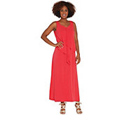 Susan Graver Regular Liquid Knit Tiered Maxi Dress - A306532