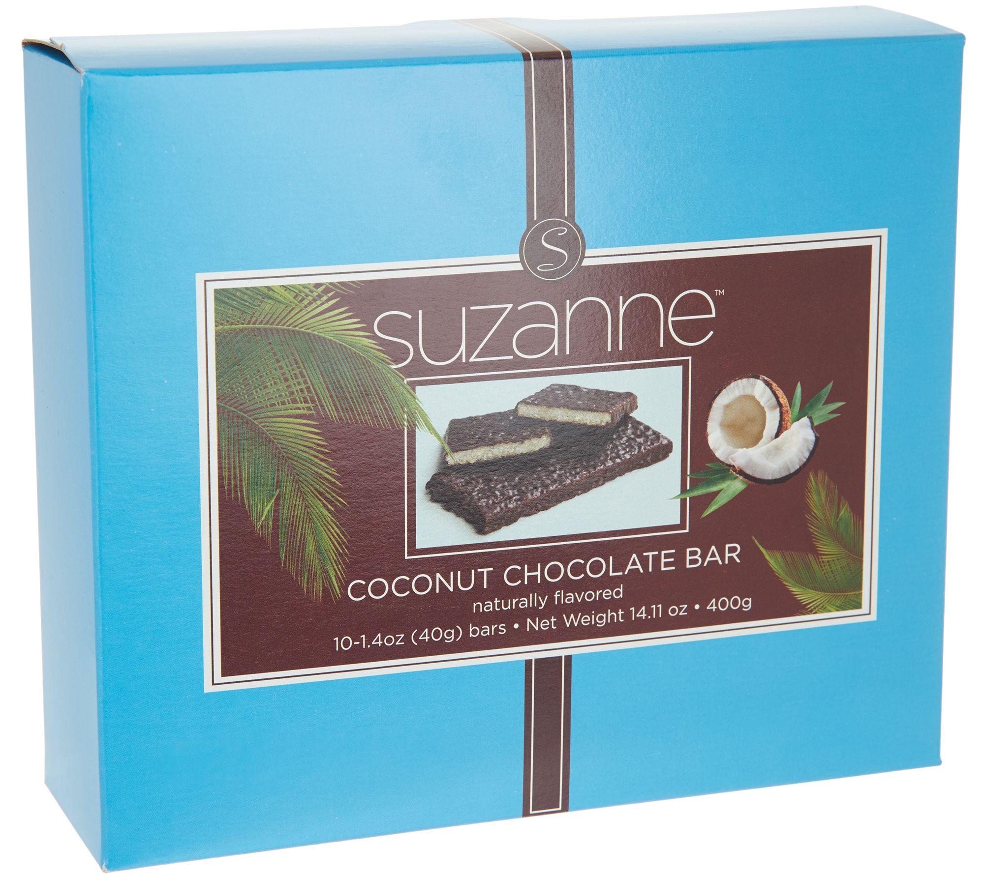 SUZANNE Coconut Chocolate Bars - 10 Bars - Page 1 — QVC.com