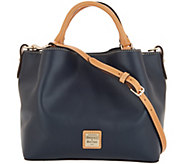Dooney & Bourke Smooth Leather Small Brenna Satchel Handbag - A309632