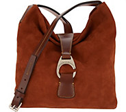 Dooney & Bourke Suede Leather Derby Crossbody Hobo Handbag - A310532