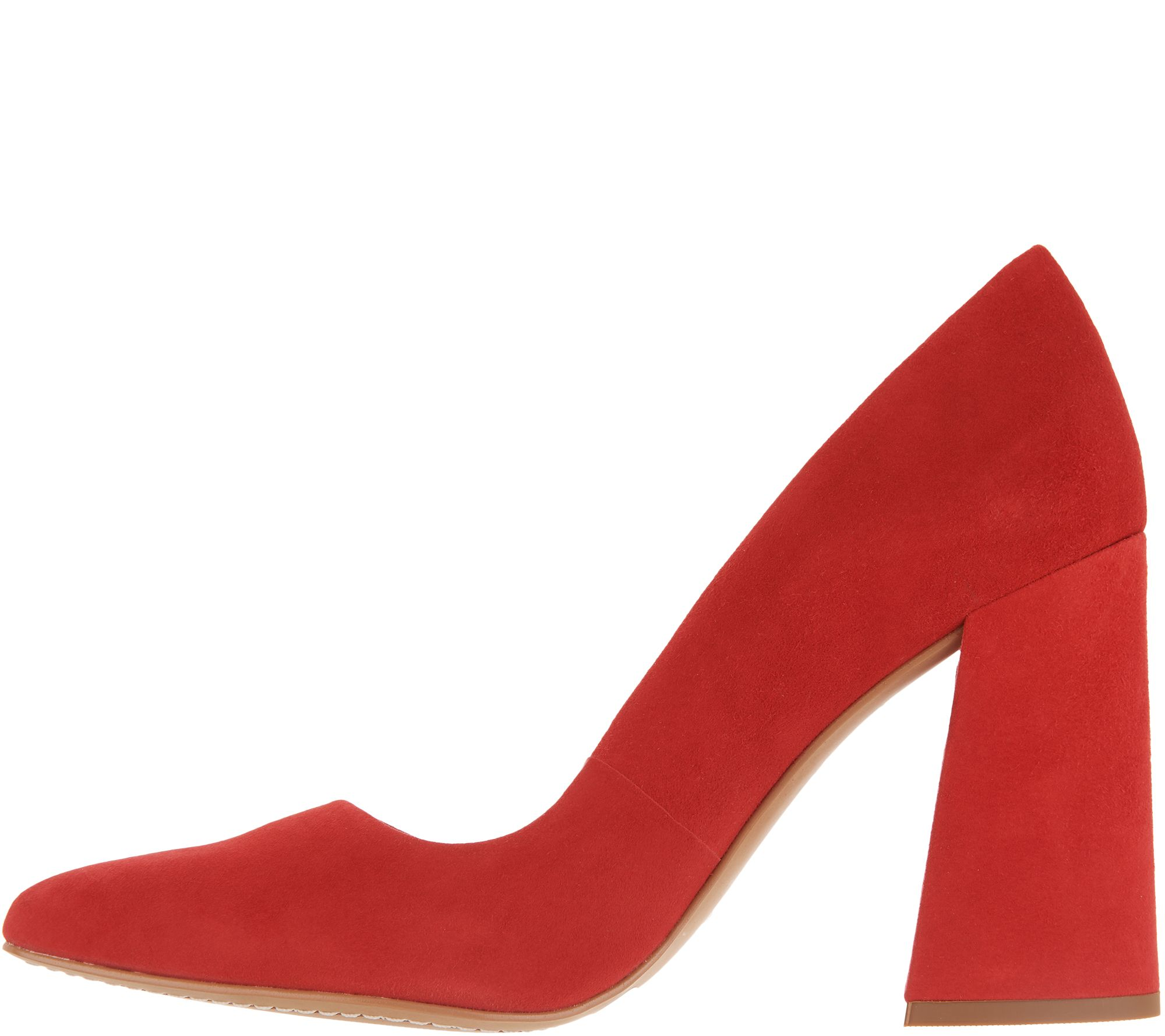 e266067dfee Vince Camuto Suede Pointy Toe Block Heel Pumps - Talise - Page 1 — QVC.com