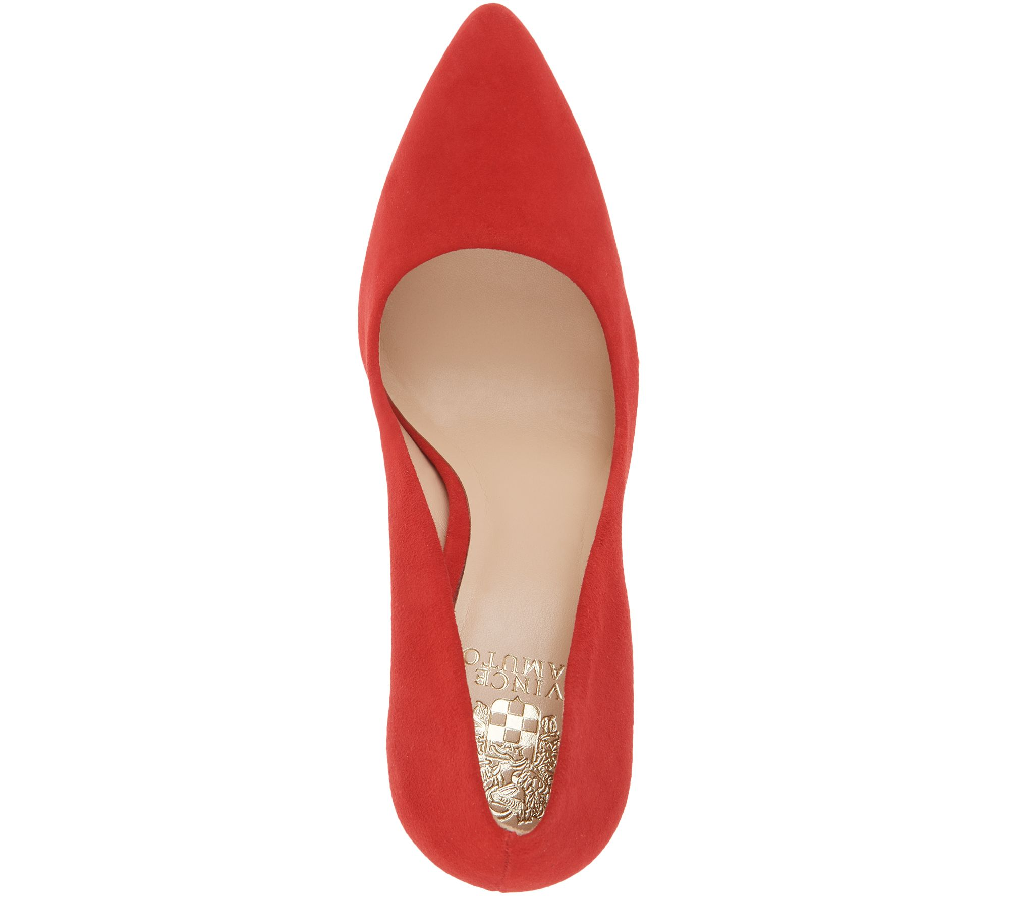 1ae6f0e3cb Vince Camuto Suede Pointy Toe Block Heel Pumps - Talise - Page 1 — QVC.com