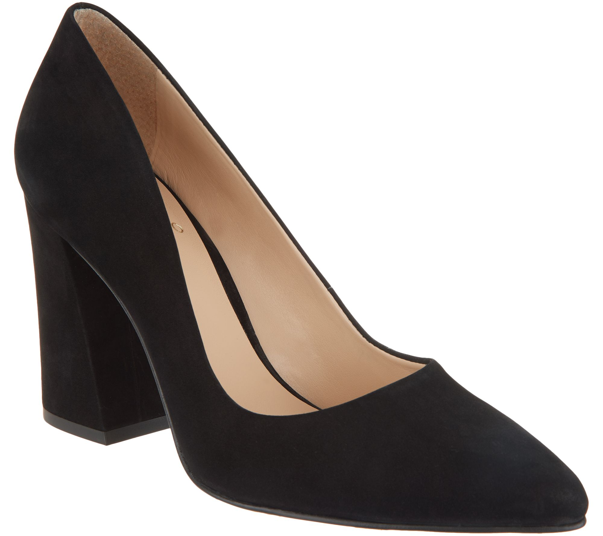 a45f59ef8 Vince Camuto Suede Pointy Toe Block Heel Pumps - Talise - Page 1 — QVC.com