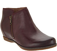 Dansko Leather Wedge Ankle Boots - Leyla - A311032
