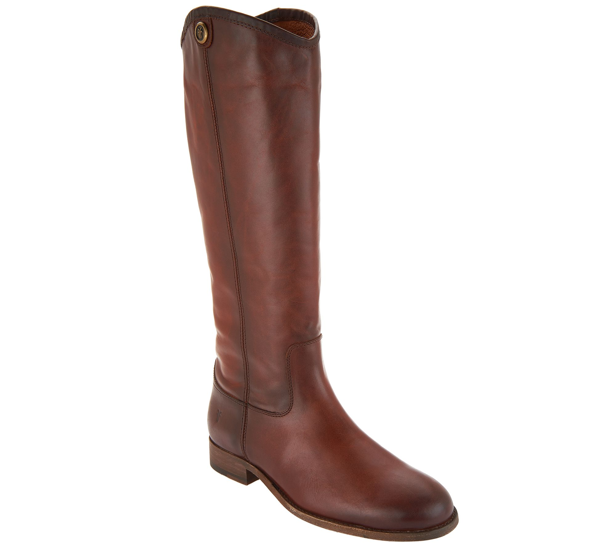 141a5778e6835 Frye Wide Calf Leather Tall Boots - Melissa Button 2 - Page 1 — QVC.com