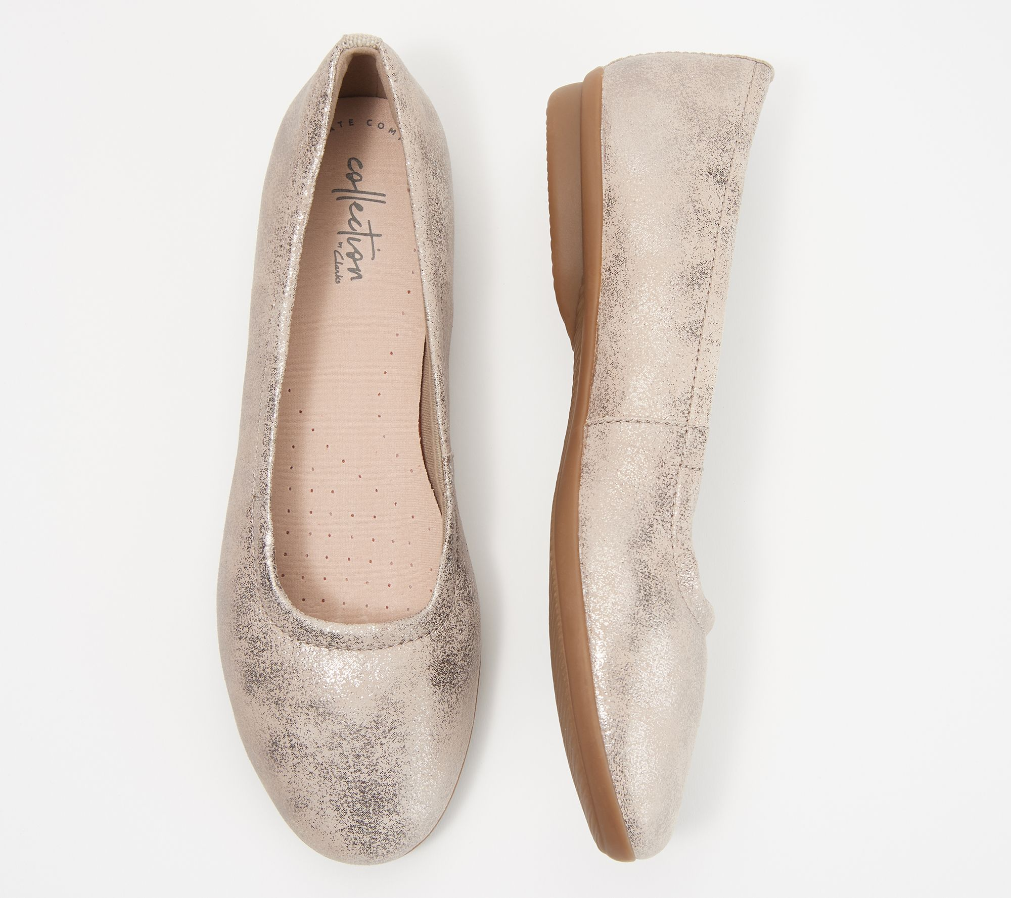 ad6043781 Clarks Collection Leather or Suede Flats- Gracelin Vail - Page 1 — QVC.com