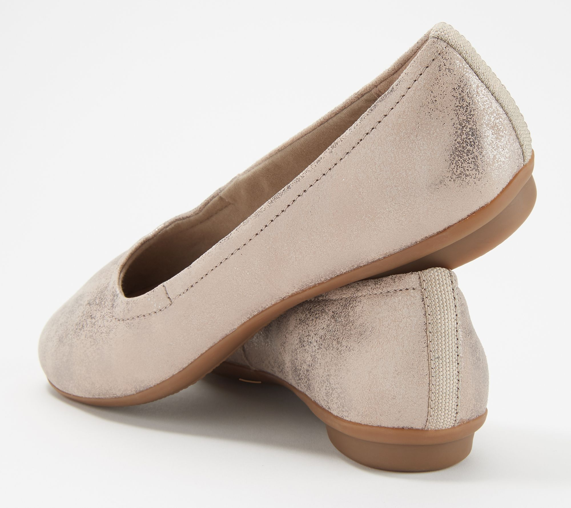 346034fe241bd Clarks Collection Leather or Suede Flats- Gracelin Vail - Page 1 — QVC.com