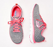 Skechers Flex Appeal 2.0 Heathered Lace-Up Sneakers - A350532
